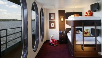 Luxury yacht GLOBAL - Bunk or Childrens room