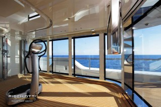 Luxury yacht Grace E - Gym - Photo by Giuliano Sargentini