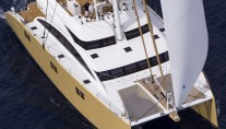Luxury yacht HOUBARA - view from above