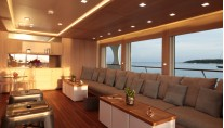 Luxury yacht Heliad II - Lounge area on the bridge deck