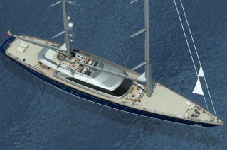 Luxury yacht Hull C.2232 - view from above