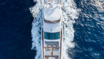 Luxury yacht IRON MAN from above - Photo credit Quin BISSET