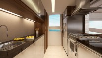 Luxury yacht Intermarine 95 - Galley