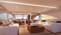 Luxury yacht Intermarine 95 - Saloon