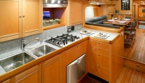 Luxury yacht Intrigue - Galley