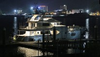 Luxury yacht Koonoona by night