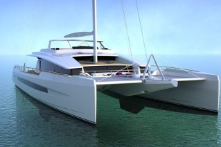 Luxury yacht Long Island 100 - front view