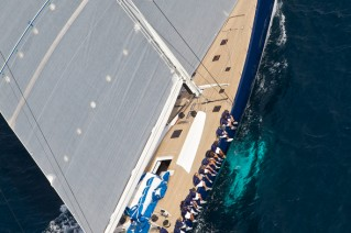Luxury yacht Magic Carpet3 - view from above - Photo by J. Renedo