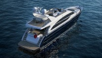 Luxury yacht Princess 82 - view from above