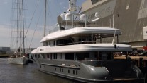 Luxury yacht Princess Too - aft view