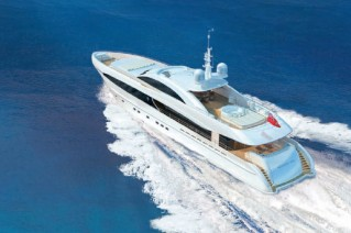 Luxury yacht Project Galatea - aft view