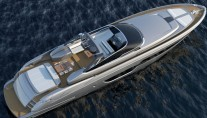 Luxury yacht Riva 88 Miami from above-001