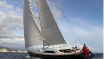 Luxury yacht State of Grace under sail