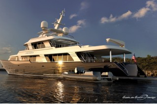 Luxury yacht Sylviana after refit in 2015 - rendering