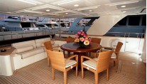 MARIA II of London -  Aft Deck Dining