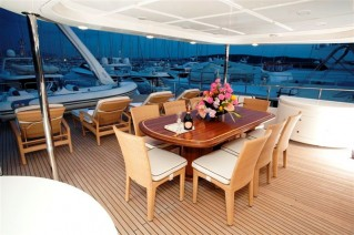 MARIA II of London -  Skylounge  Deck Dining