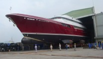 MCC Superyacht Mazu at her launch - Image courtesy of Maritime Concept and Construction