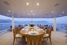 MY ASTRA - Upper aft deck dining