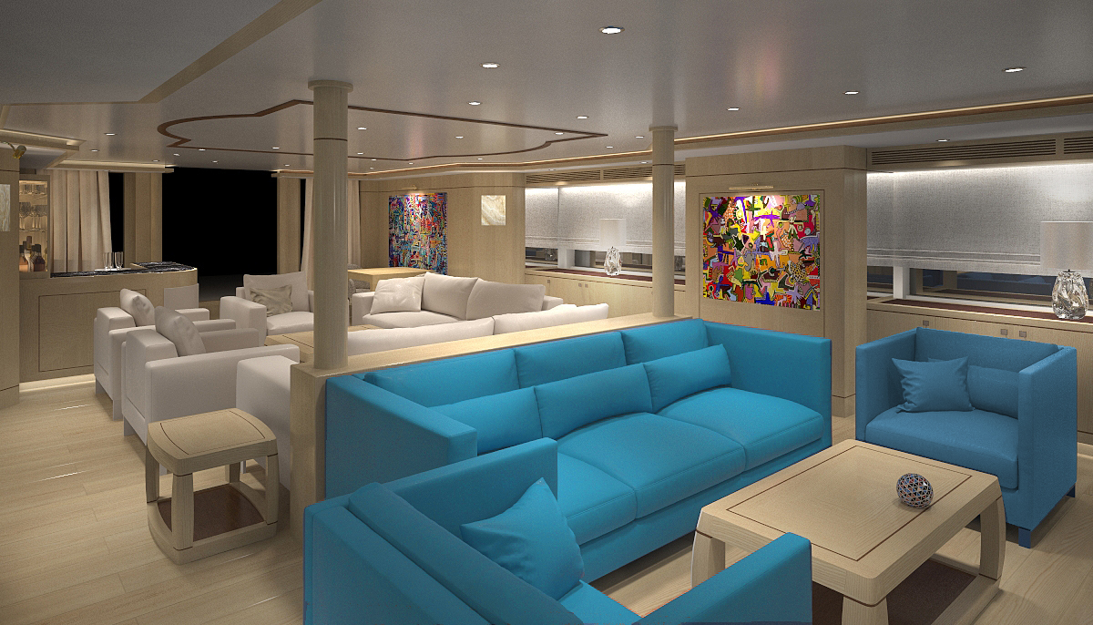 My blue vision salon luxury yacht browser by for A visionary salon