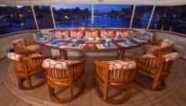 MY CARTE BLANCHE - Aft deck dining