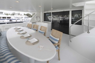 MY CHILDS PLAY - Aft deck dining