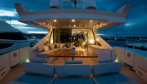 MY CHIMERA - Aft deck by night