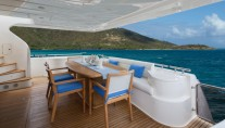 MY CRYSTAL PARROT - Aft deck dining