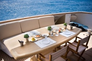 MY ITHAKI - Aft deck dining