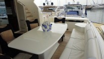 MY LADY - Aft deck dining