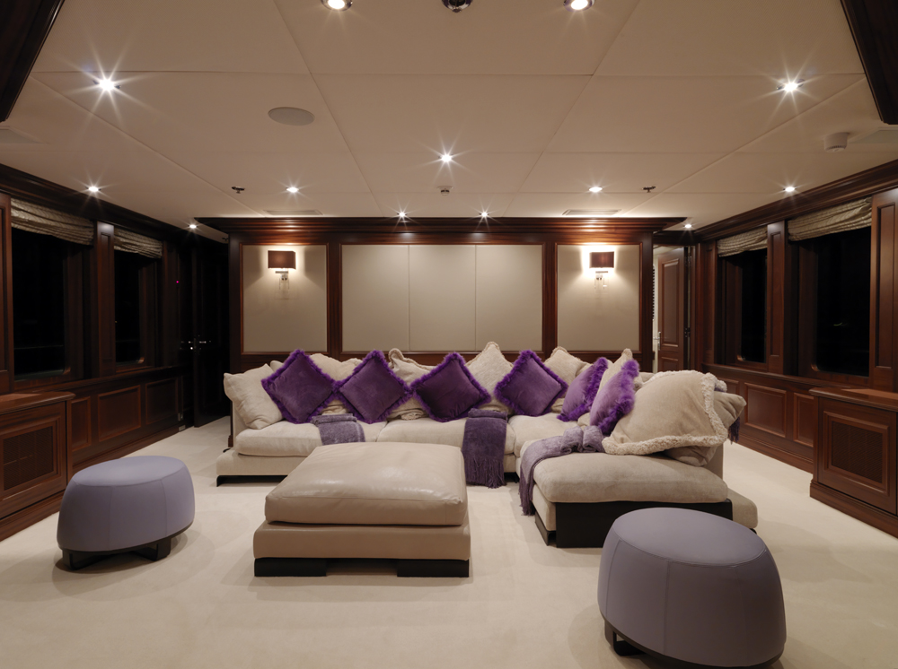 Luxury yacht charter my little violet upper salon for A little luxury beauty salon