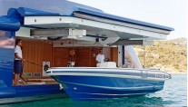 MY MARY JEAN II - Aft Tender Garage at Launching