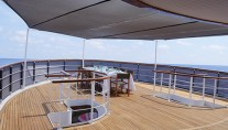 MY MENORCA - Upper aft deck dining