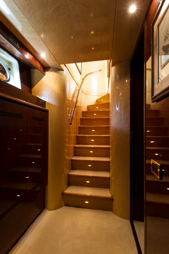 double open stairs stairs image gallery luxury yacht browser by charterworld
