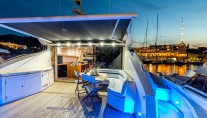 MY OCTAVIA - Aft deck by night