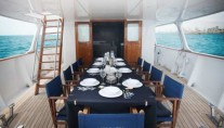 MY SEMAYA - Aft deck dining setting