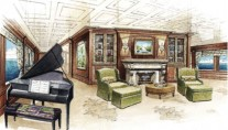Main Salon - Cakewalk Superyacht to be launched in 2010