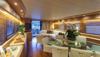 Maiora Yacht SANDS 1 -  Salon and Dining looking Aft