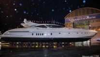 Mangusta 130 superyacht Hull no. 18 at launch at Overmarine Group