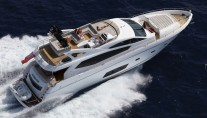 Manhattan 73 yacht - view from above