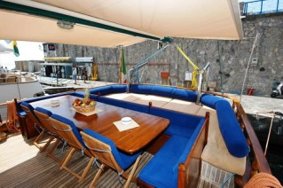 Maria Giovanni Aft deck dining
