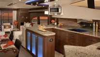 Marquis 720 Fly Yacht - Dining and Galley