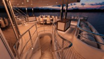 MegaYacht Red Square Upper Deck - Image courtesy of Dunya Yachts