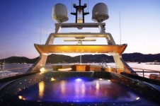 Megayacht ANCORA -  Pool at night