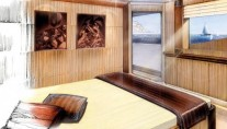 Megayacht Amels 199 VIP suite with private deck access