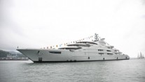 Megayacht Serene at her launch
