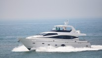 Monte Fino 76 yacht on sea trials