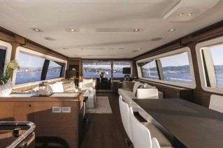 Motor Yacht ALTER EGO -  Salon looking Aft