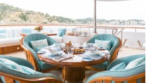 Motor Yacht CALLISTO - Main deck alfresco dining