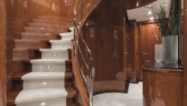 Motor Yacht CHECKMATE. -  Guest Foyer and Stairs