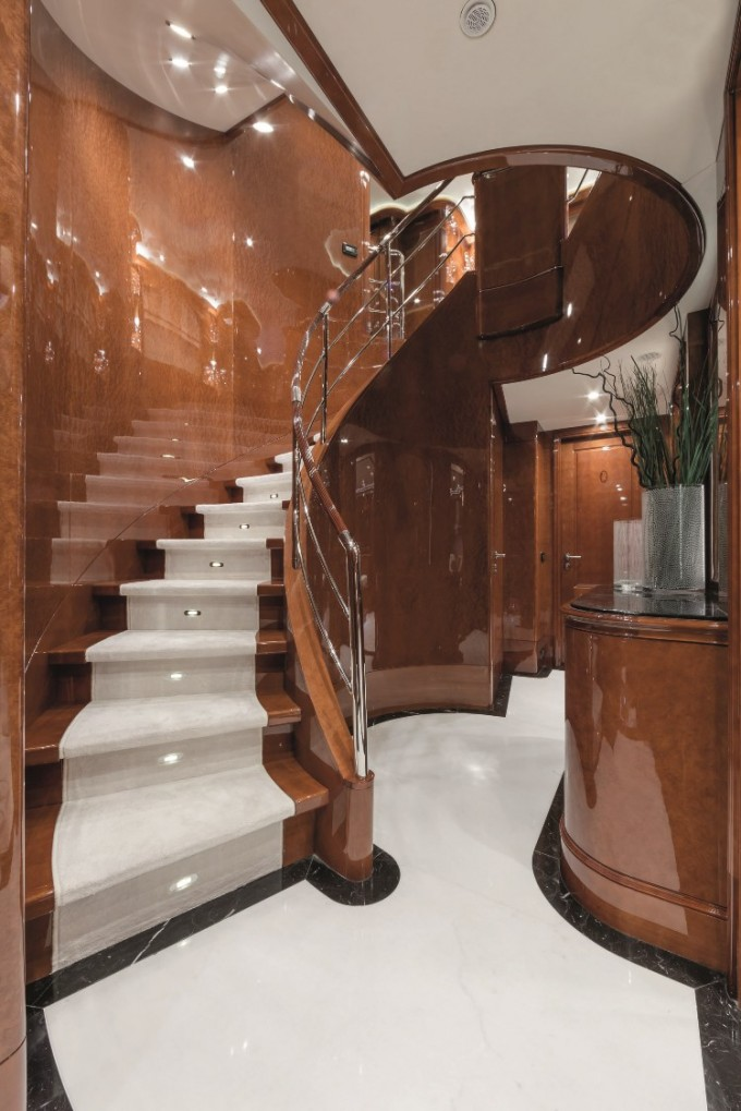 Foyer Stairs For Sale : Luxury yacht charter motor checkmate guest foyer